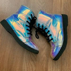 Girls Holographic Boots